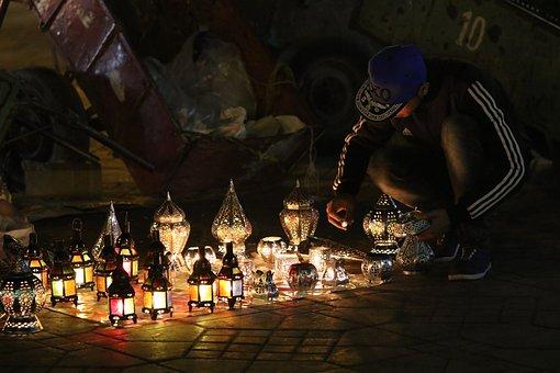 Earn Money, Night Market, Marrakech, Morocco, Market