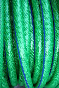Green Tube, Garden Hose, Garden, Green, Water