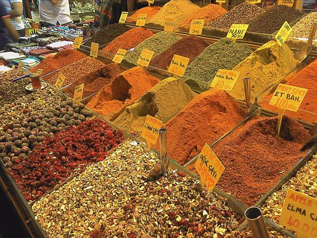 Spices, Food, Kitchen, Market, Istanbul, Dealer, Curry