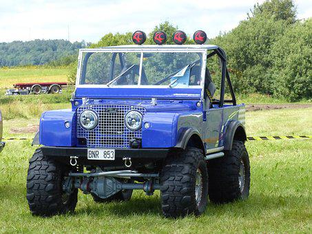 Jeep, Land-rover, Car Show, Falköping, Grass, Summer