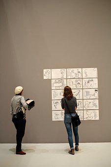 Exhibition, See, Visitors, Gallery, Museum, Art