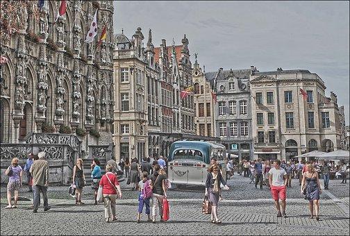 Square, Tourism, People, City, Tourist, Street