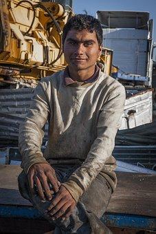 Portrait, Man, Adolescent, Romany, Junk Dealer, Metals