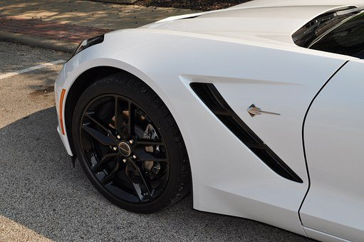 Corvette, Wheel, Rim, Tire, Rubber, Street, Asphalt