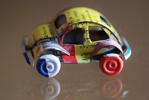 Auto, Toy Car, Toys, Vehicle, Tin Toys, Sheet Metal Car