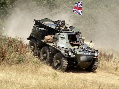 Alvis, Saracen, Military, Vehicle, Show, Armed, War