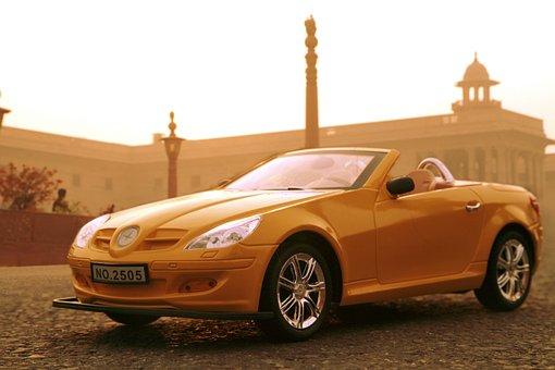 Yellow, Toy, Car, Plastic, Kids Toys, Road, Auto