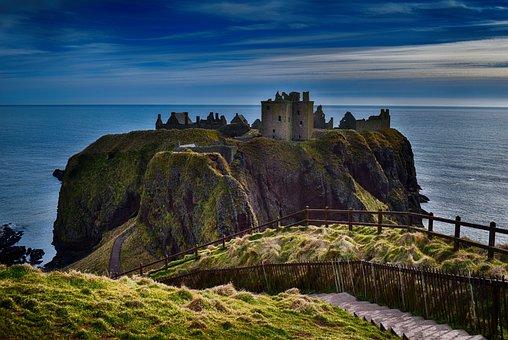 Dunnottar Castle, Cliffs, Aberdeen, Dunnottar