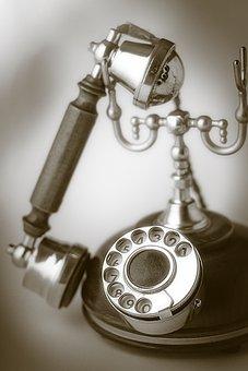Antique, Phone, Wood, Monochrome, Nostalgia, Old