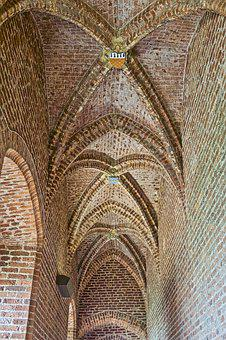 Ceiling, Church, Architecture, Cathedral