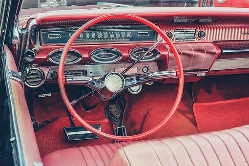 American, Classic, Steering, Auto, Retro
