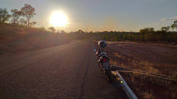 Sunset, Bike, Asphalt, Backcountry, Summer, Northeast