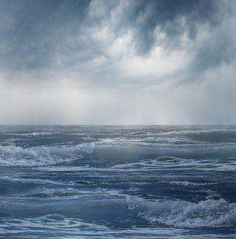Sea, Blue, Ocean, Sunset, Sky, Nature, Clouds, Water