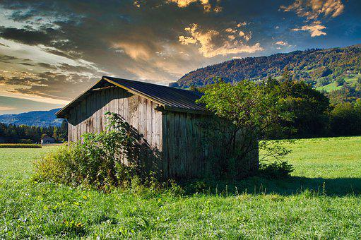 Cabin, Sallanches, Magland, Fields