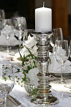 Wedding, Candle Holders, Banquet, Table