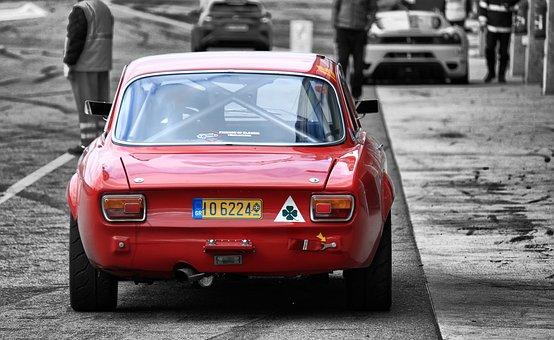 Alfa Romeo, Car, Track, Racing, Competition, Classic