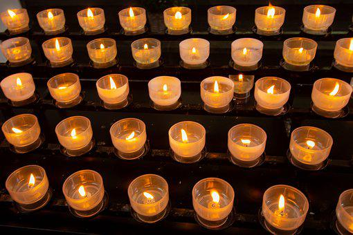 Candles, Victims, Church, Mourning, Prayer, Light