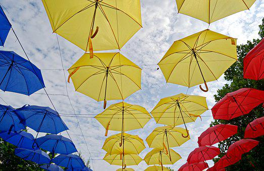 Decor, Umbrellas, Colored, Colors, Flag, The National