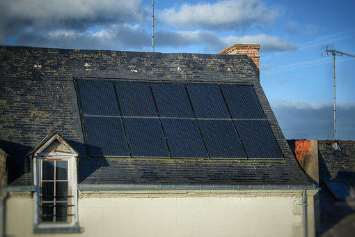 Roof, Solar Panel, Clean Energy, Electricity