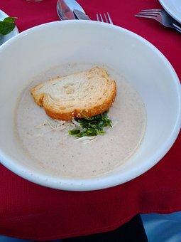 Food, Cream, Bread, Gourmet, Delicious, Red, Spoon