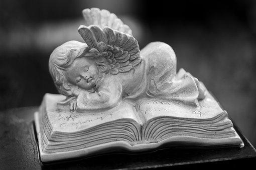 Art, Cemetery, Grave, Angel, Statue, Religion, Sleeping