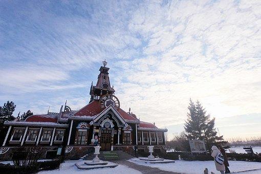 Winter, Northeast China, Harbin, Manor, Volga Manor
