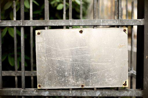 Shield, Metal, Metal Sign, Fence, Gateway, Copy Space
