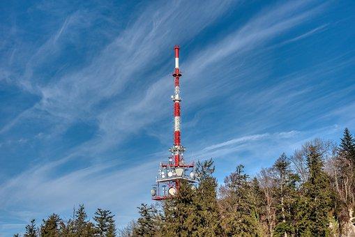 Landscape, Mountain, Tv Tower, Transmitter, Forest