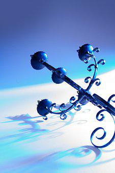 Candle Holders, Book Cover, Blue, Mystical, Fantasy