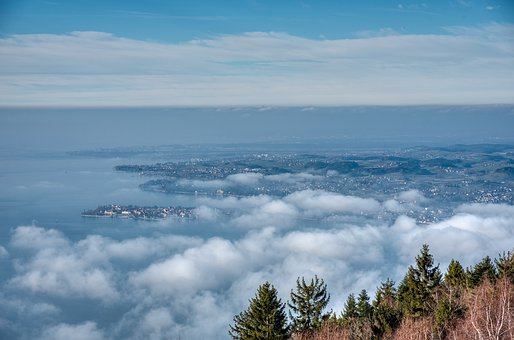 Landscape, Outlook, Blue, Lake Constance, Lindau