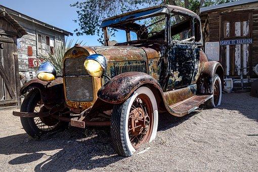 Pkw, Oldtimer, Junkyard, Barn Find, Usacars, Old