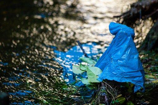 Plastic In The River, Sea, River, Plastic, Pollution