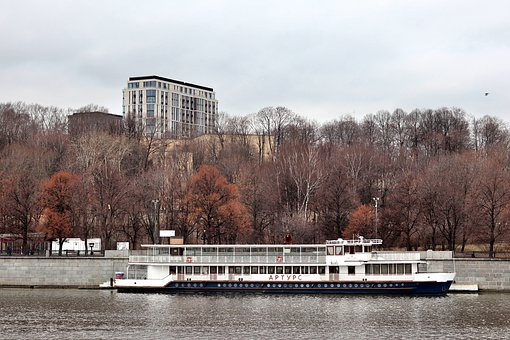 Moscow, River, Steamer, Water, Russia, Landscape