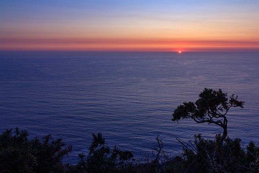 Sunset, Sea, Ocean, Atlantic, Sky, Galicia