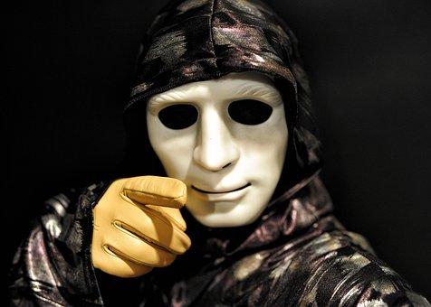 Horror, Mask, Horror Mask, Leather Gloves, Tan Gloves