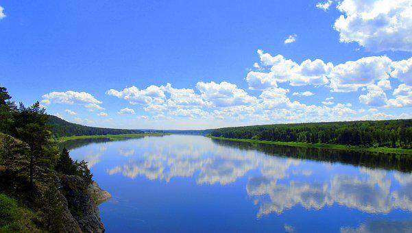 Nature, River, Forest, Tree, Russia, Siberia, Kuzbass