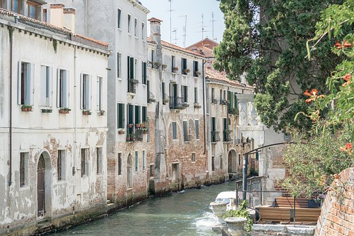 Venice, Italy, Water, Channel, City, Building, Gondola