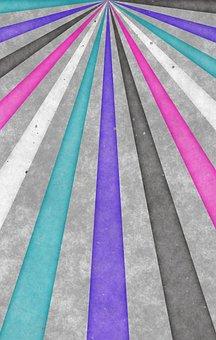 Background, Vintage, Retro, Stripes, Pastellfarben