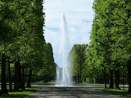 Fountain, Water, Park, Water Feature, Avenue