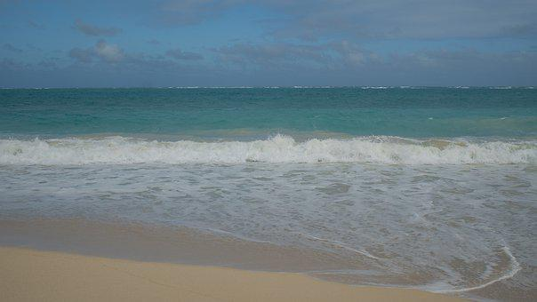 Beach, Wave, Hawaii, Ocean, Sky, Water, Sand, Nature