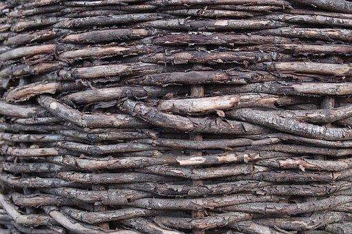 Fence, Weaving, Macro, Texture