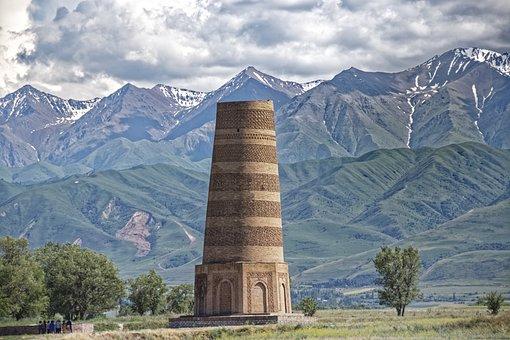 Kyrgyzstan, Burana Tower, Tower, Weir