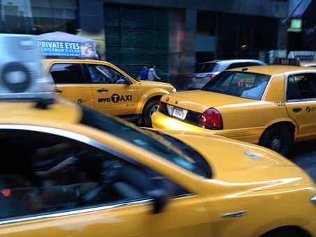 Yellow Cab, Taxi, New York, Manhattan, Newyork, America