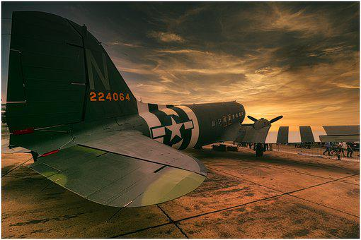 Candy Bomber, Aircraft, Flyer, Wing, Airfield, Runway