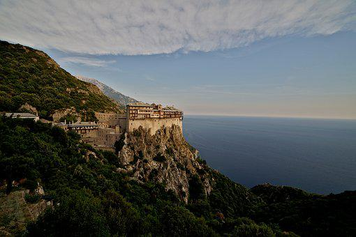 Simonopetra, Mountain, Athos, Monastery, Greece