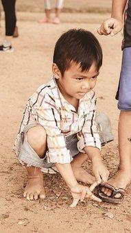 Children, Travel, Siem Reap City, Play, Outdoor