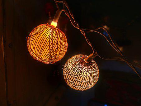 Light, Decoration, Bulb, Threads, Christmas