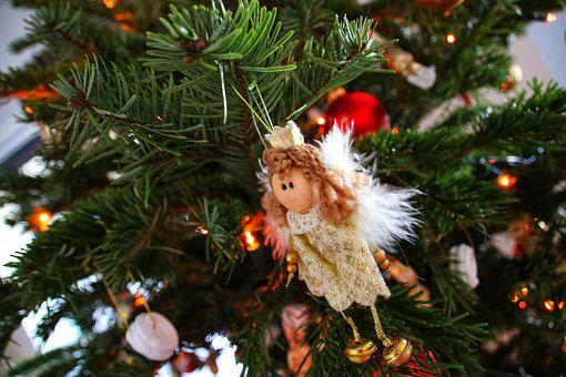 Christmas, Angel, Tree, Decoration
