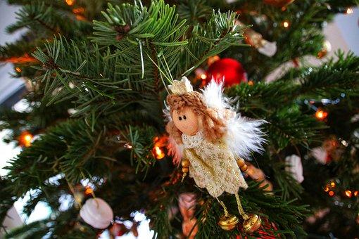 Christmas, Angel, Tree, Decoration, Faith, Cute