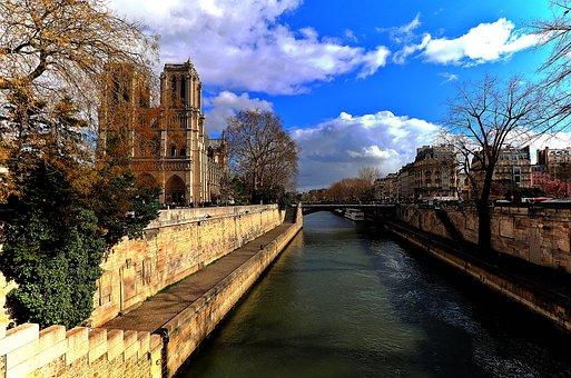 Notre Dame De Paris, Paris, France, Seine, River